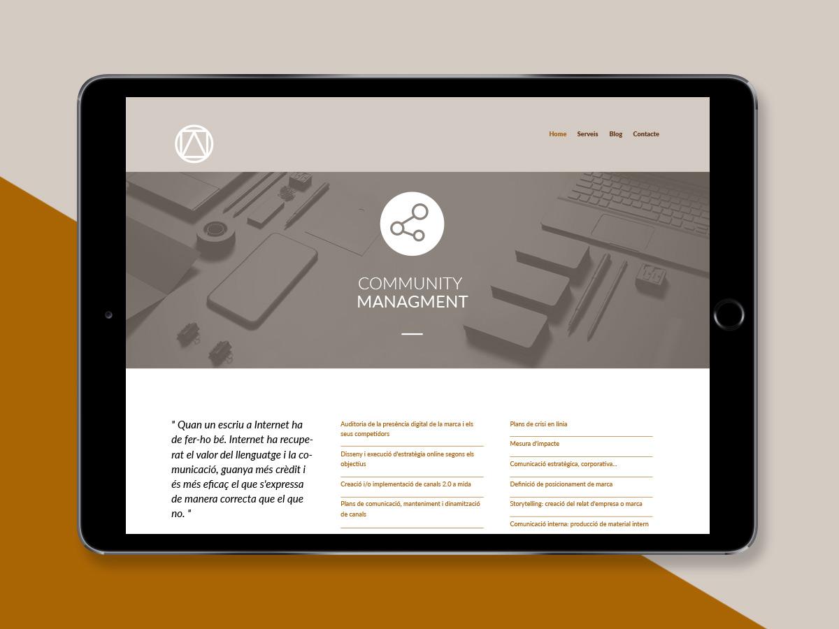 web responsive per agència de marketing i publicitat