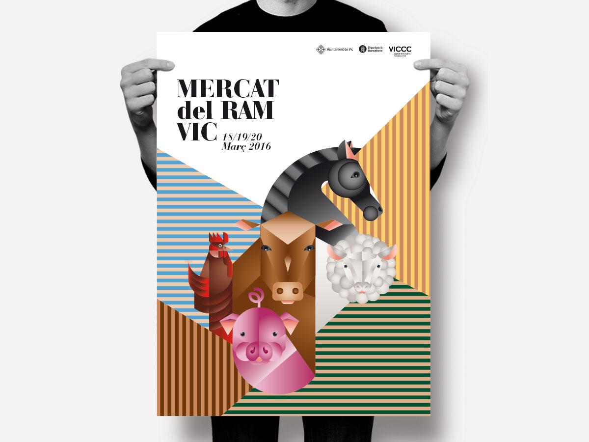 cartell mercat del Ram de Vic