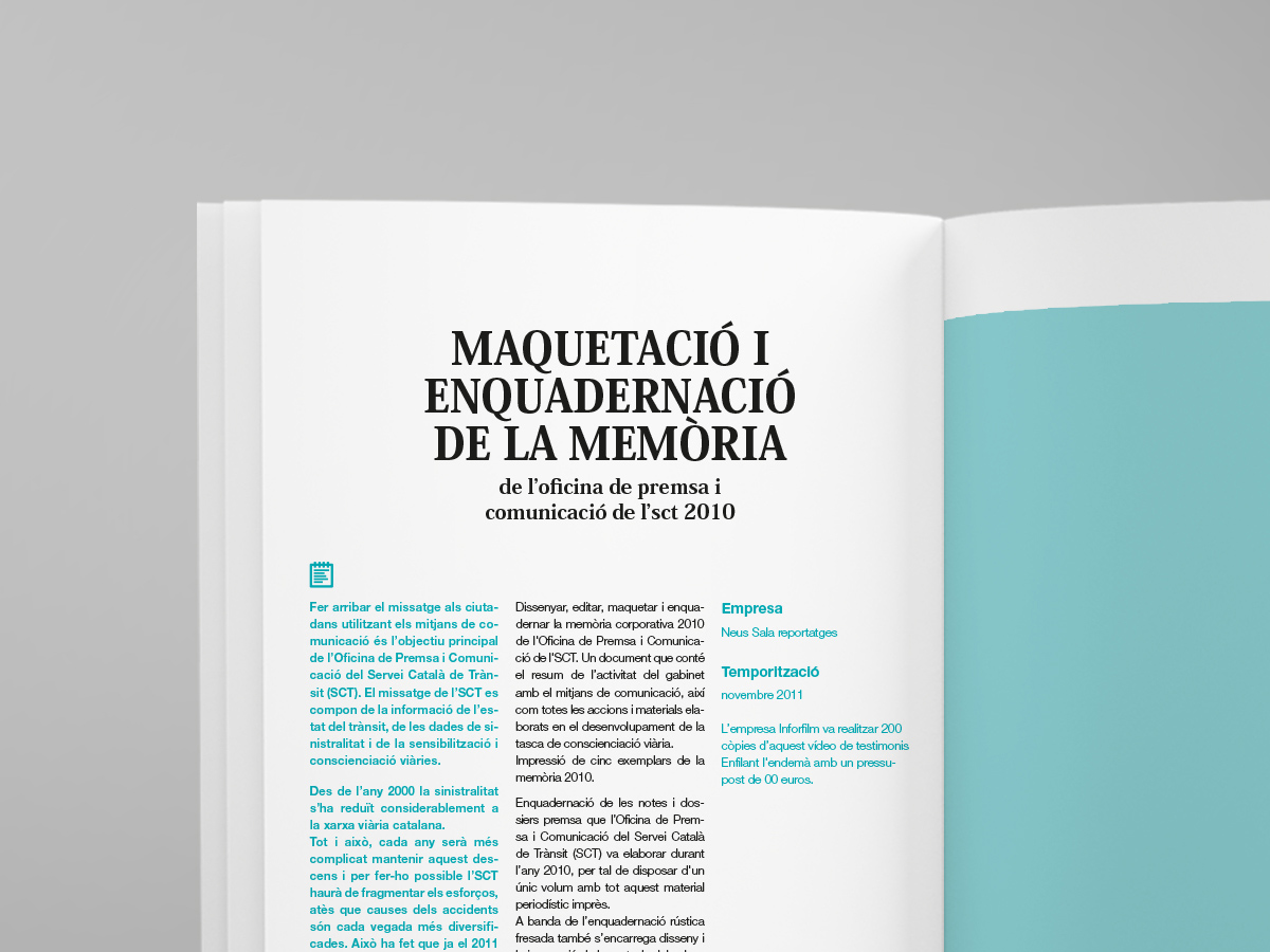 disseny memoria anual
