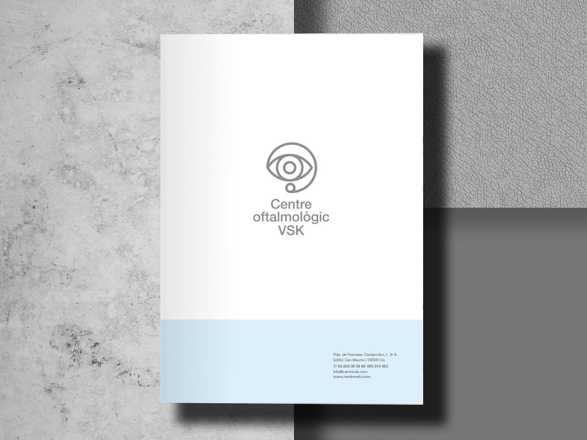 disseny carpeta centre oftalmològic VSK Vic