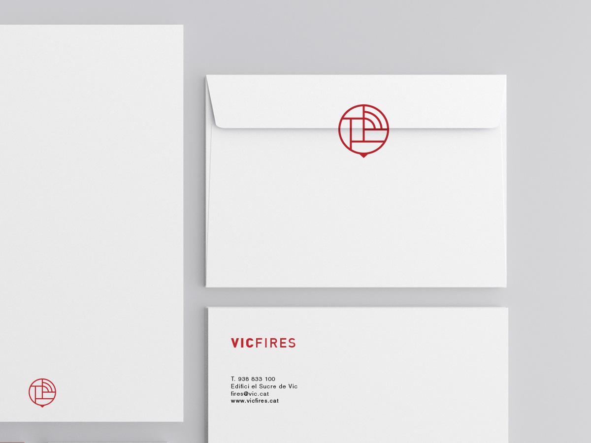 diseño sobres corporativos Vicfires