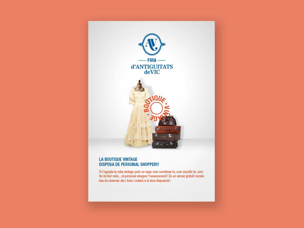 gràfica i cartell fira d'antiguitats de Vic