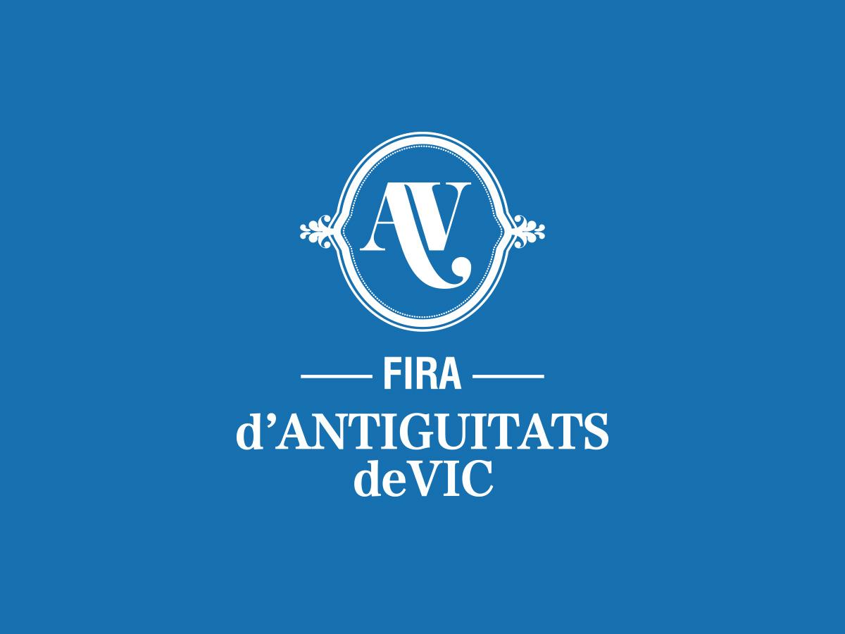 identitat corporativa fira d'antiguitats de Vic