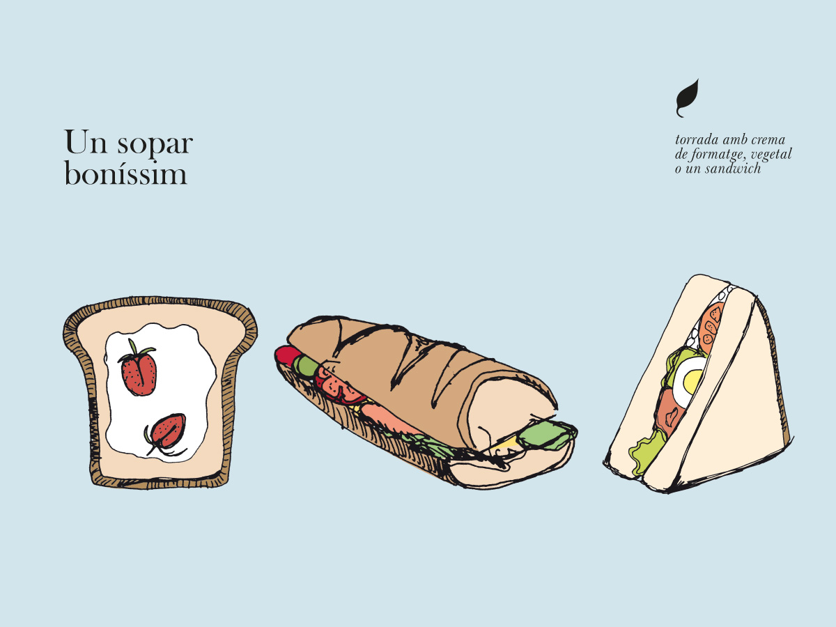 gràfica i il·lustració sopar