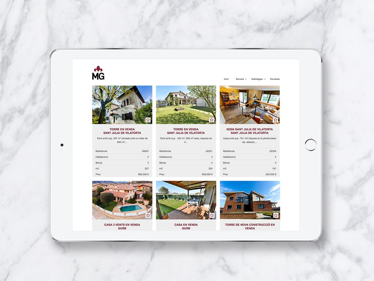 disseny web immobiliaria Vic