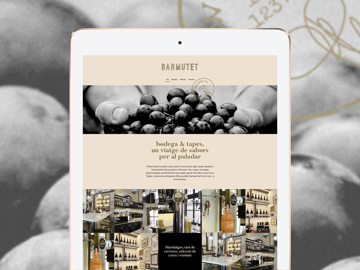 Disseny pagina inicial Barmutet Vic