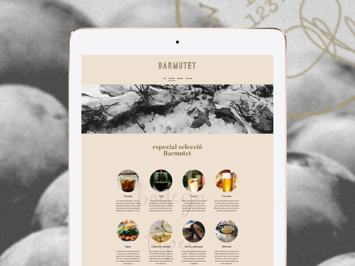 Disseny pagina web Barmutet